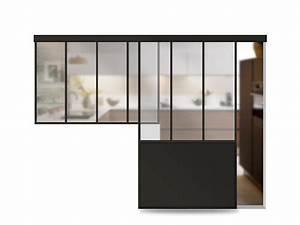 porte verriere coulissante atelier sur mesure aluminium With porte de garage et porte d intérieur coulissante sur mesure