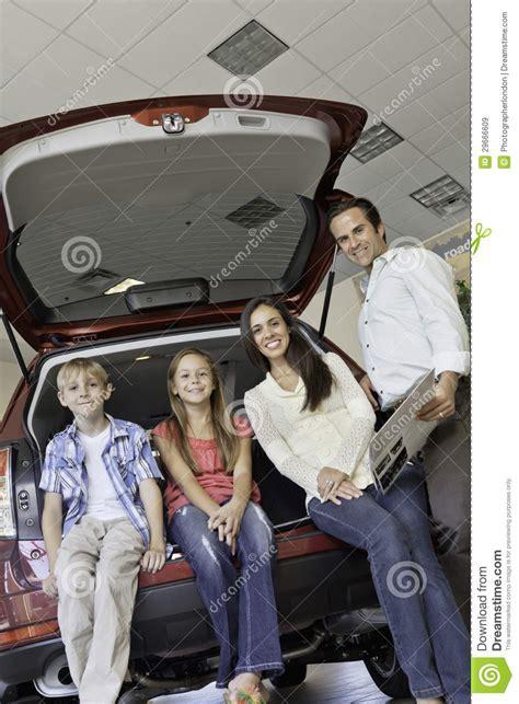 Happy Family New Car