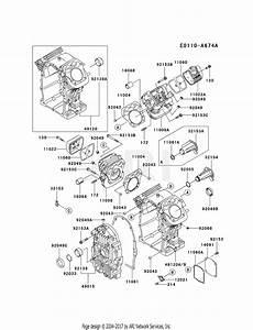 Kawasaki Fh770d Crankcase