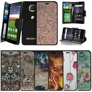 for motorola moto z play 2nd gen wallet case w slots animals flowers ebay