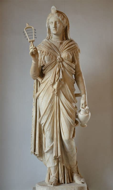 marble statue  isis  goddess holds  situla  sist