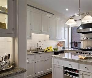 White Kitchen Cabinets With Gray Granite Countertops Grey ...