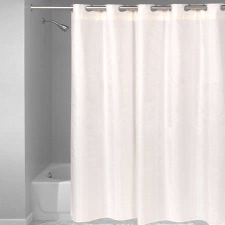 75 Shower Curtain by Fabric Shower Curtain Hookless With Snap Liner Solid
