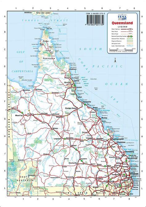 australia road maps queensland