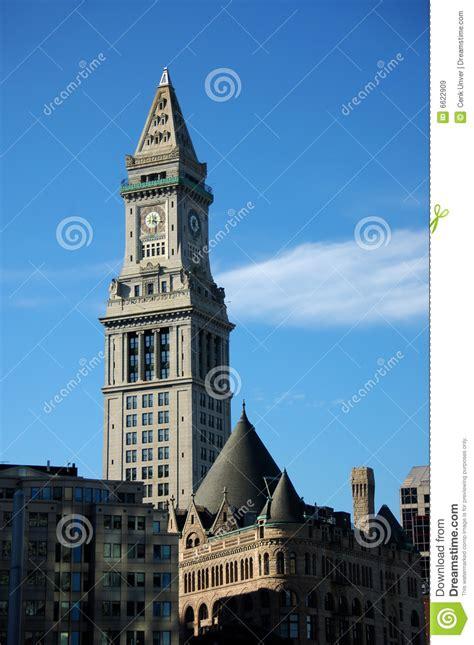 horloge de bureau de douane de boston images libres de droits image 6622909