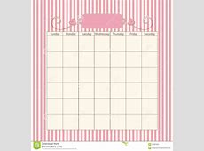 Romantic calendar template stock illustration