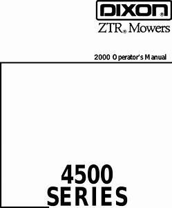 Dixon 1857 0599 Users Manual Om  Ztr 4500 Series  4515b