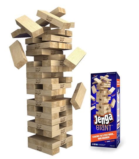 Introducing Jenga® GIANT™--Watch the Thrills Stack Up! All ...