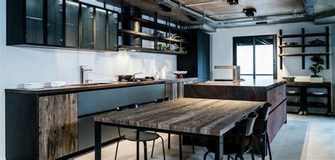 cuisine style atelier cloison en verre style atelier