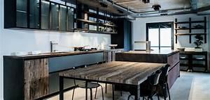 cuisine style atelier cloison en verre style atelier With cuisine style loft industriel