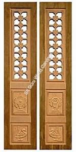 Pooja Door Designs & Pooja Room Door Designs In Wood SJ