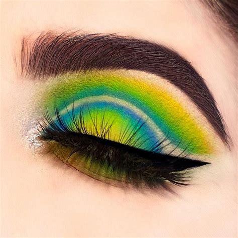 neon eyeshadow yellow green  blue ig emvalencia