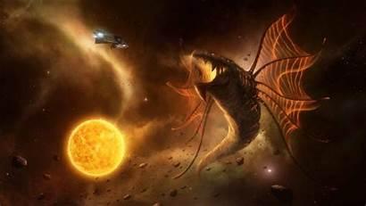 Leviathans Stellaris Wallpapers Loading Dragon Breath Background