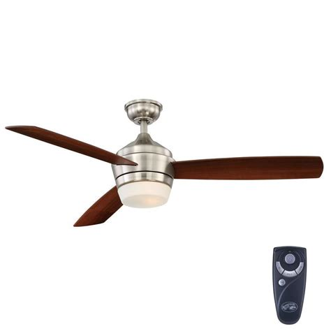 home depot ceiling fans with remote hton bay marucci 52 in indoor brushed nickel ceiling