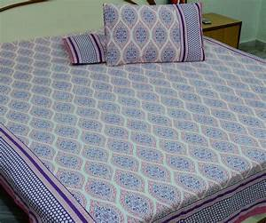 Cotton printed jaipur king size bed sheet with pillow for Dreamfinity king size pillow