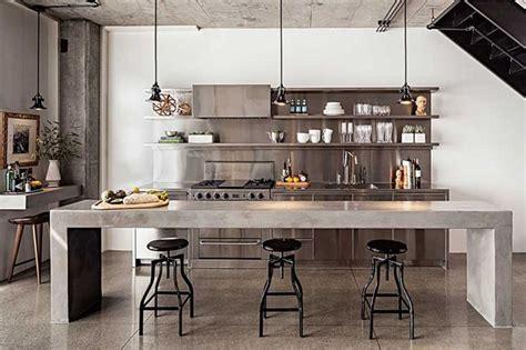 concrete kitchen design enviable kitchen design of a chef my warehouse home Industrial