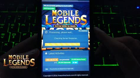 mobile legends hack  android  ios  diamonds