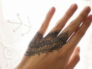 lace drawing on hand by ~Lacerare on deviantART | Tattoo ...