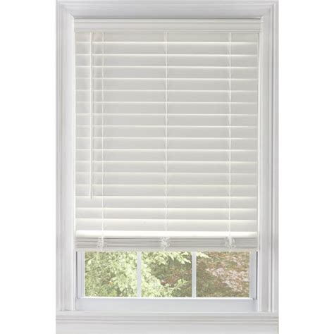 faux wood blinds lowes custom size now by levolor white faux wood room darkening