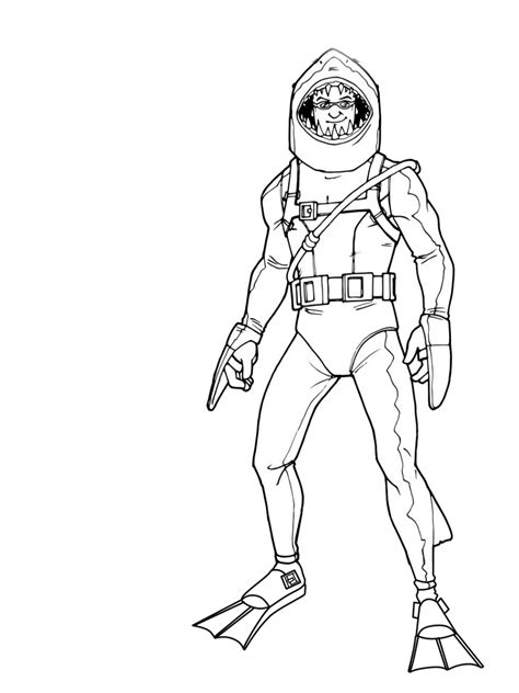 fortnight coloring pages    print