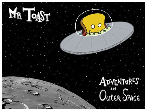 Mr Toast In Outerspace Poster