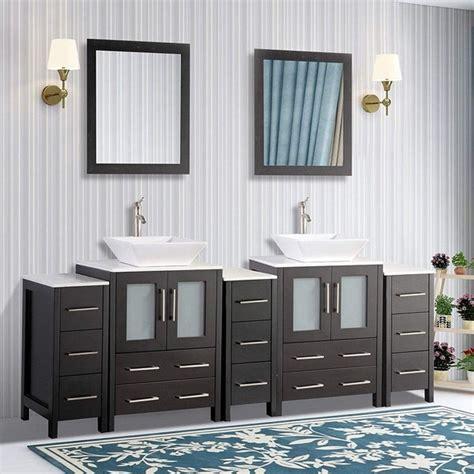 shop vanity art   double quartz sink bathroom vanity