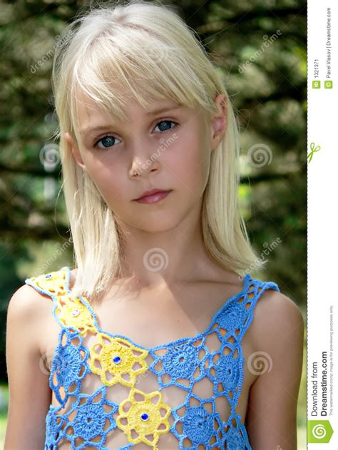 Blondy Girl Stock Image Image Of Close Eyes Lovely 1321371