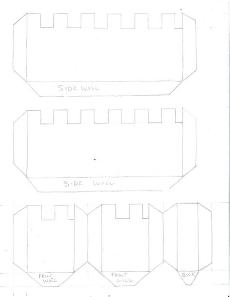 castle template build a cardboard and paper castle