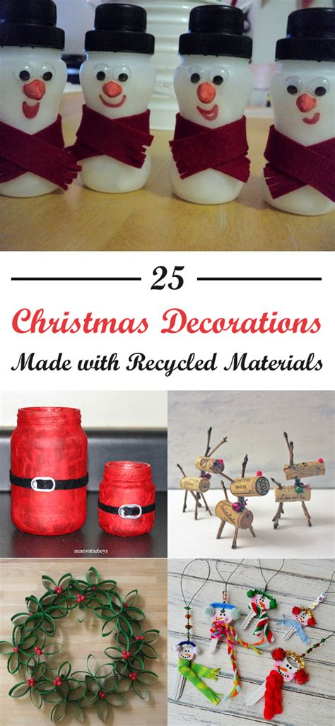 christmas decorations   recycled materials