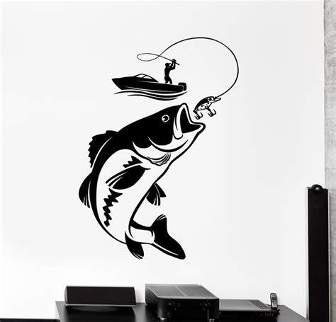 Boat Stickers by Vinyl Wall Decal Fishing Fisherman Hobby Fish Boat