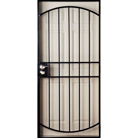 steel door lowes gatehouse 9202305 gibraltar black steel security door