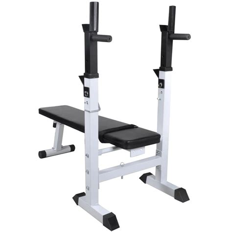 Vidaxlcouk  Fitness Workout Bench Straight Weight Bench