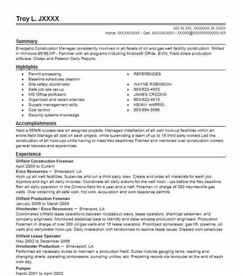 11 amazing construction resume exles livecareer
