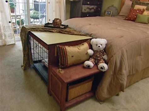 build  dog crate coverbench seat hgtv