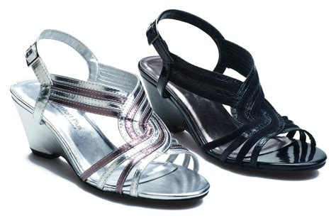comfort plus sandals womens wide fit wedge wedding evening sandals shoes