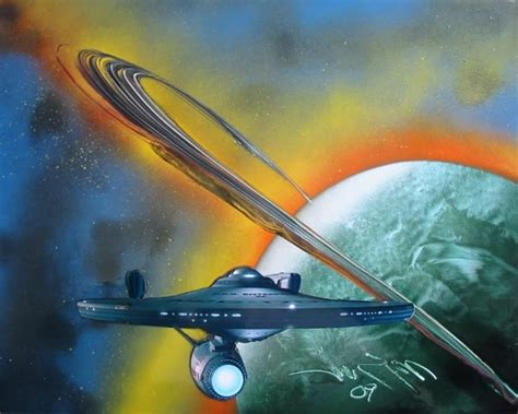 Starship Enterprise Painting