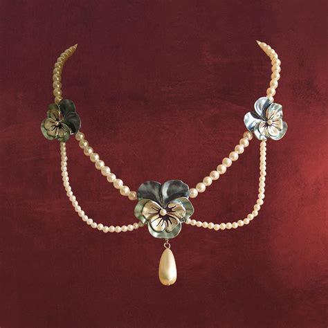 Perlen Kette Collier Dirndl Trachtenschmuck Kostüm