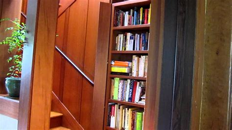 hidden staircase  redwood bookcase youtube