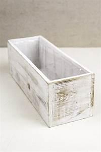 white, 4x12, wood, planter, boxes