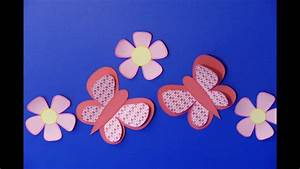Basteln Zum Frühling : schmetterling butterfly fr hling ostern basteln aus papier basteln mit kindern youtube ~ Frokenaadalensverden.com Haus und Dekorationen