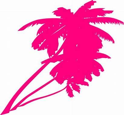 Trees Double Neon Clipart Clip Pink Transparent
