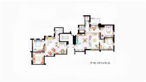 friends floor plans wallpaper