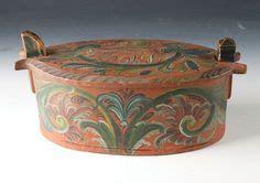 antique box svepask viksdalen tine box rosemaling c1800 antique scandinavian