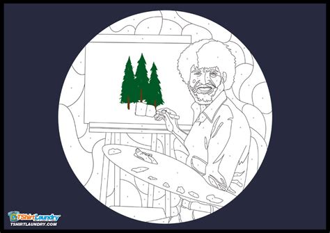 Bob Ross And His Happy Little Trees