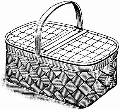 Picnic Table Coloring Drawing Basket Pages Hay