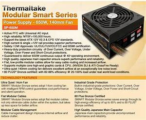 Thermaltake 650w Modualr Smart Series Power Supply