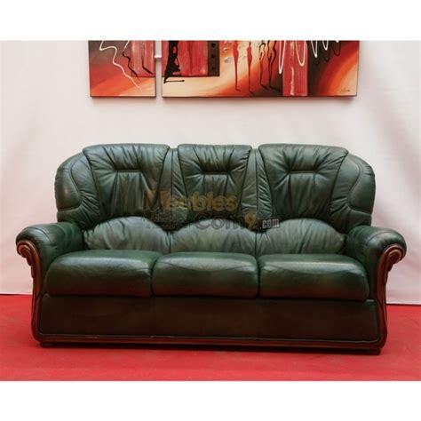 canapé en tissus canapé cuvette cuir vert bois apparent 3 places n136