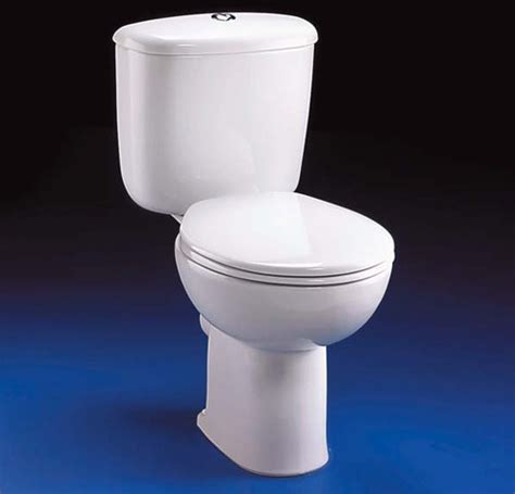 Close Coupled Toilet, Push Cistern, Fittings & Seat. Ideal