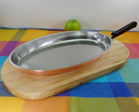 spring culinox switzerland copper stainless cookware  oval fry fi olde kitchen