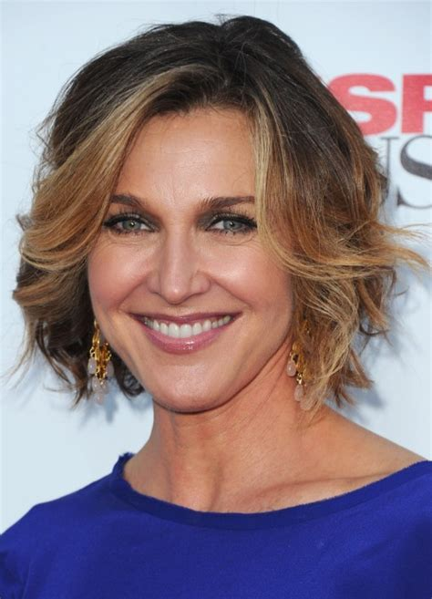 Brenda Strong Short Curly Ombre Bob Hairstyle For Women